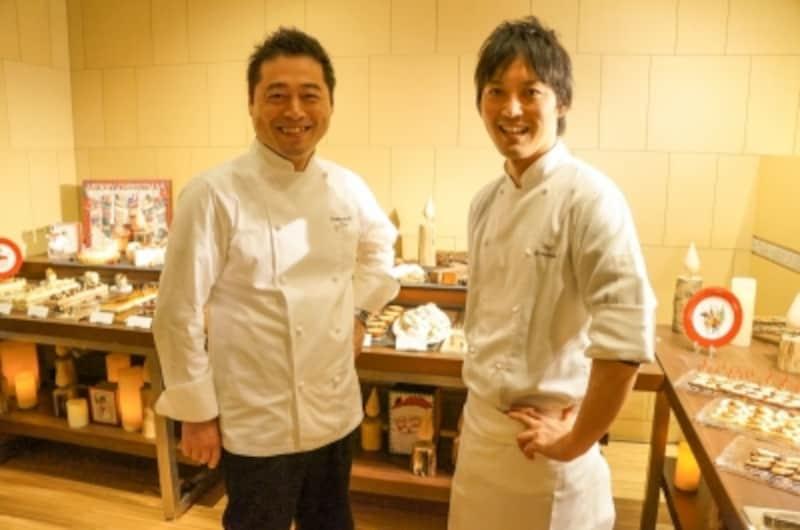 左:ペストリー・ベーカー料理長佐藤浩一さん/右:スーシェフ仲村和浩さん