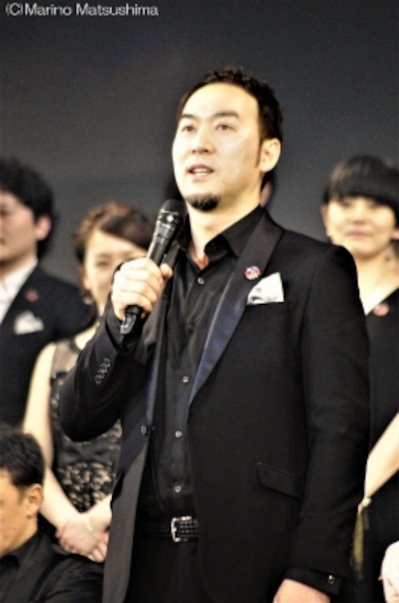 2017年『レ・ミゼラブル』製作発表にて。(C)MarinoMatsushima