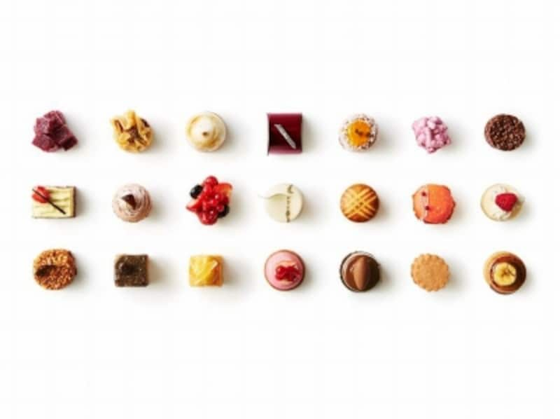 """ミニャルディーズ専門パティスリー「UNGRAIN(アングラン)」には全40種程の小菓子""""ミニャルディーズ""""が揃う"""