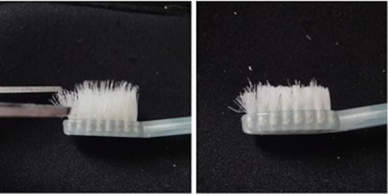 使いふるしの歯ブラシは上をカットする