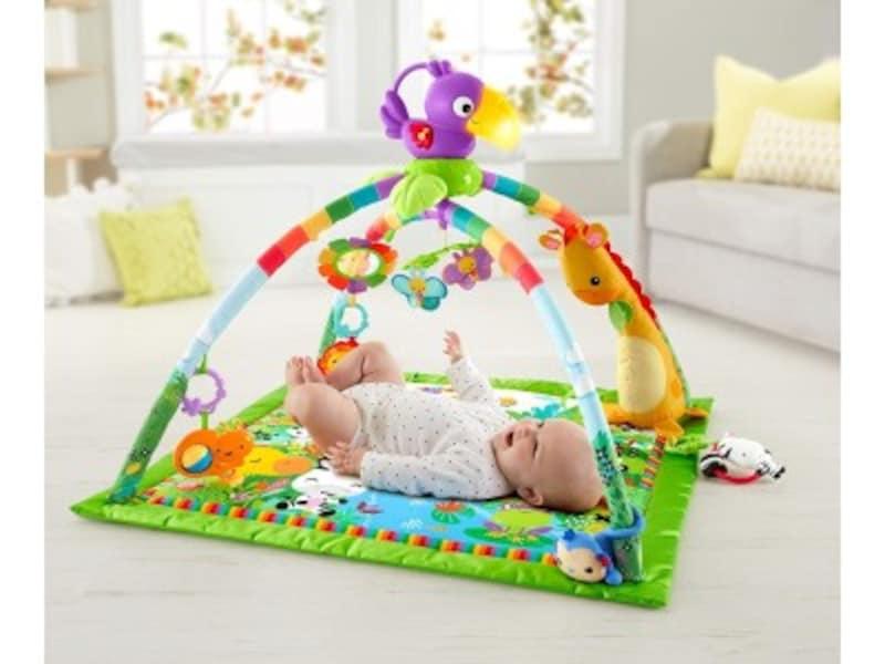 赤ちゃんに人気クリスマスプレゼント2018!0歳児向けおもちゃ第7位『フィッシャープライスレインフォレスト・デラックスジムIIDFP08』