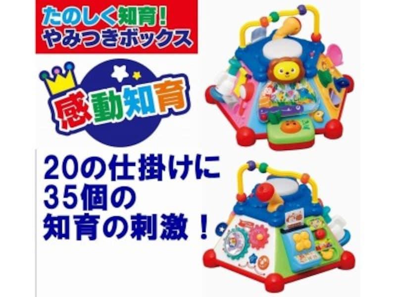 赤ちゃんに人気クリスマスプレゼント2018!0歳児向けおもちゃ第8位『たのしく知育!やみつきボックス』