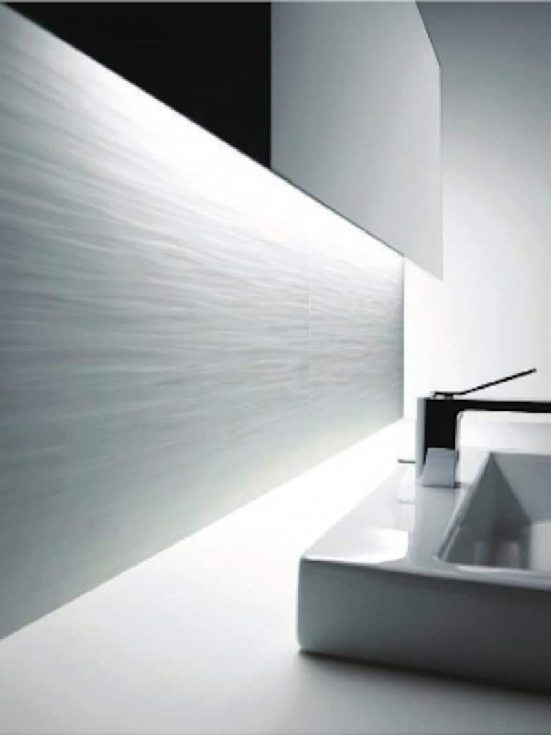 硬度が高く、擦れや引っかきによる傷が付きにくいセラミック素材。汚れもつきにくい。洗面やトイレの壁材にも。[ハイドロセラ・ウォール]undefinedTOTOundefinedhttp://www.toto.co.jp/