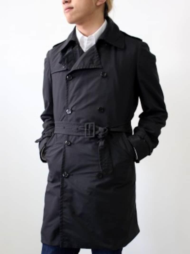 トレンチコート,ベルト,メンズ,ファッション,男性,ビジネス,マナー,コート,トレンド