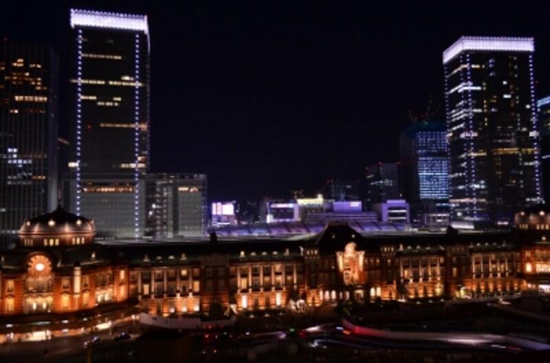新丸ビルから見た東京駅