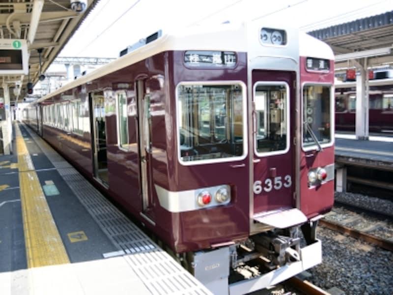 嵐山方面への観光に便利な阪急電車