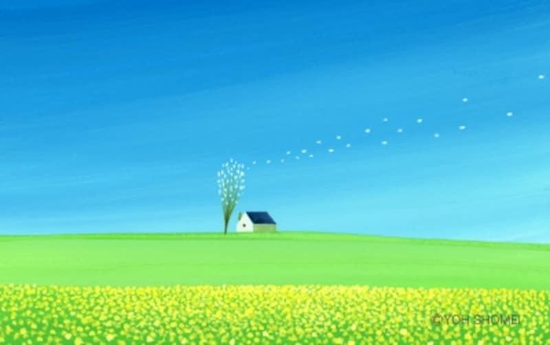作品「春の風」