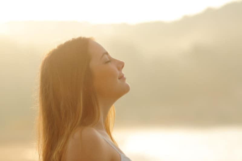 一日に数回は深呼吸をしてみよう。