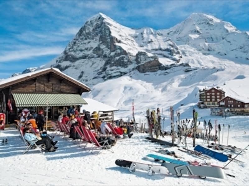 スイスの冬~山のレストラン