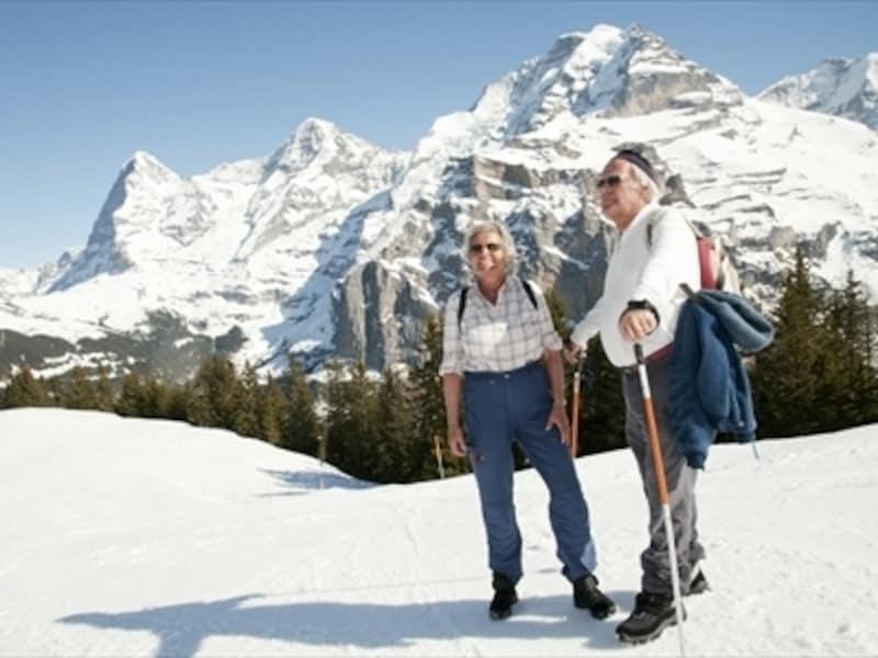 スイスのウィンターハイキング