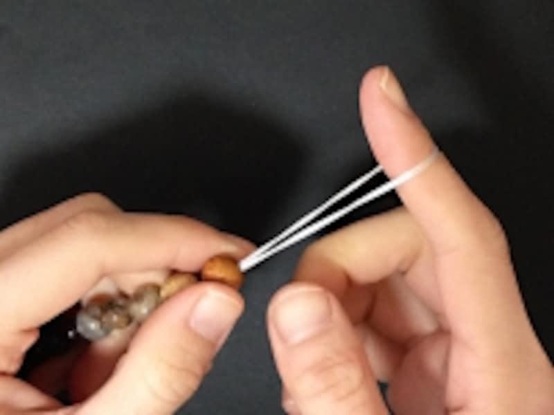 天然石・パワーストーンブレスレットの作り方