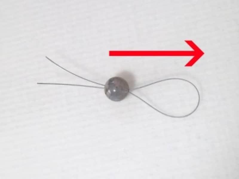 ワイヤーの端を揃えておくのがポイント