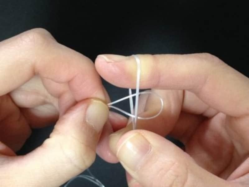 1本で輪になっている方が通しやすい