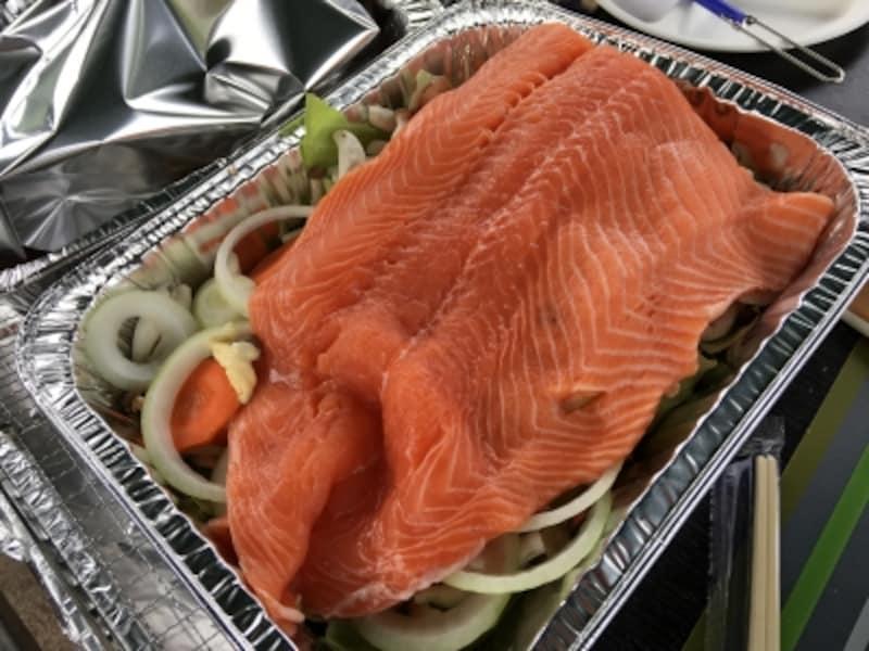 コストコバーベキューundefined鮭のちゃんちゃん焼きレシピ