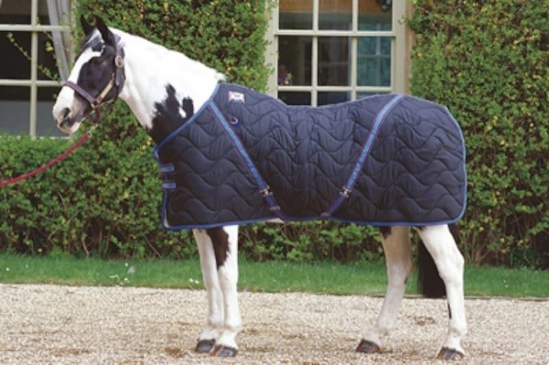 当時キルティング加工の馬用毛布は革新的だった