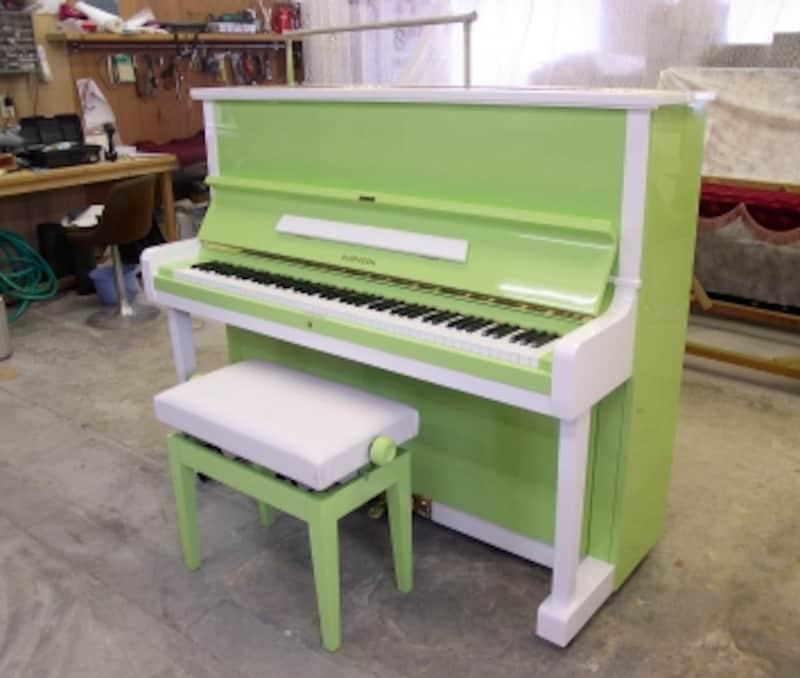 緑のリメイクピアノの写真