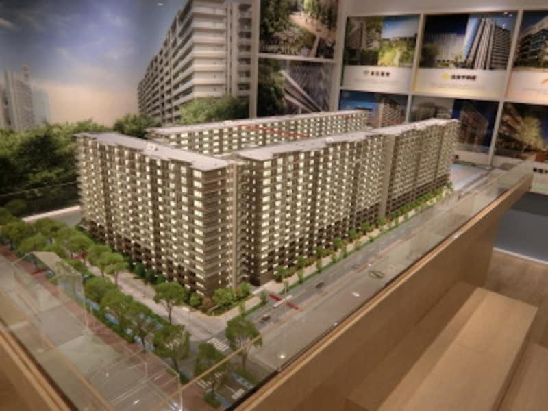 「SHINTOCITY」の建物完成予想模型