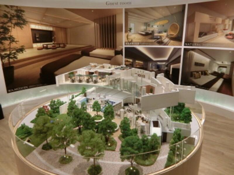 「SHINTOCITY」の共用施設の完成予想模型のプレゼンテーション