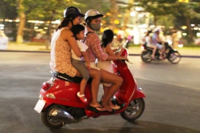 親子4人乗り。これが普通