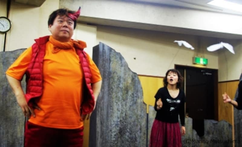 『泣いた赤鬼』稽古より。撮影:松島まり乃