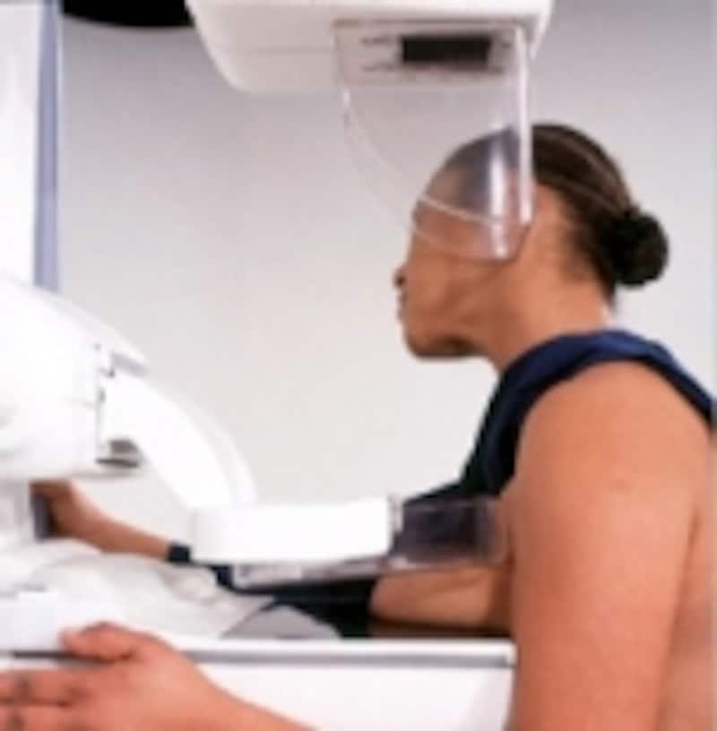 マンモグラフィーは実際にこんな風に検査します