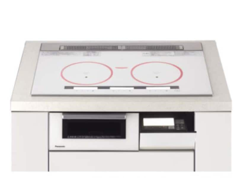 焼き物や揚げ物など、光火力センサーで鍋底温度を正確にキャッチし、設定温度をキープ。IH・遠赤のグリルも搭載。使用中はあたたかな赤色に点灯。鍋を置く位置もわかりやすい。 ダブル(左右IH)オールメタル対応。[3口IH X7シリーズ] パナソニック http://sumai.panasonic.jp/
