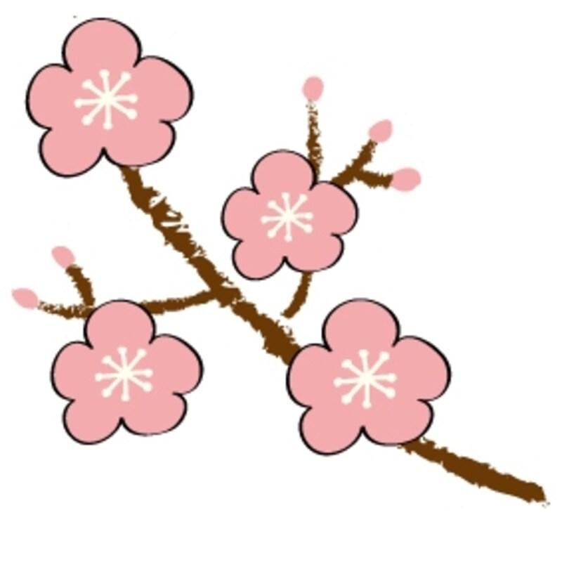 梅 花 イラスト カラー かわいい