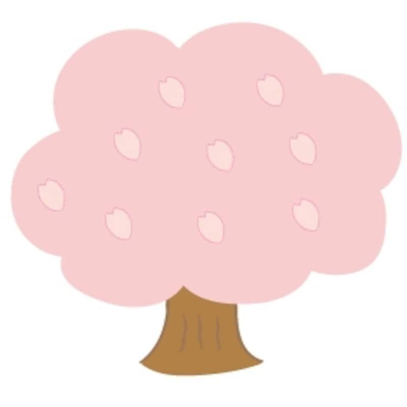 桜の木 花 イラスト カラー かわいい
