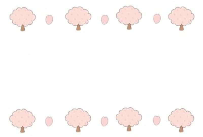 花 イラスト フレーム 枠 桜
