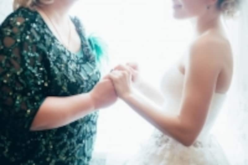 母と娘の絆を深める、ベールダウン。