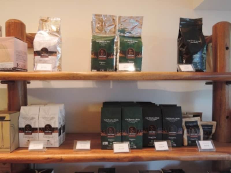 店内で販売される袋詰めコーヒー