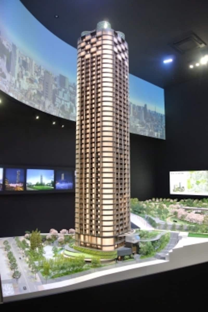 「パークコート赤坂檜町ザundefinedタワー」の完成予想模型