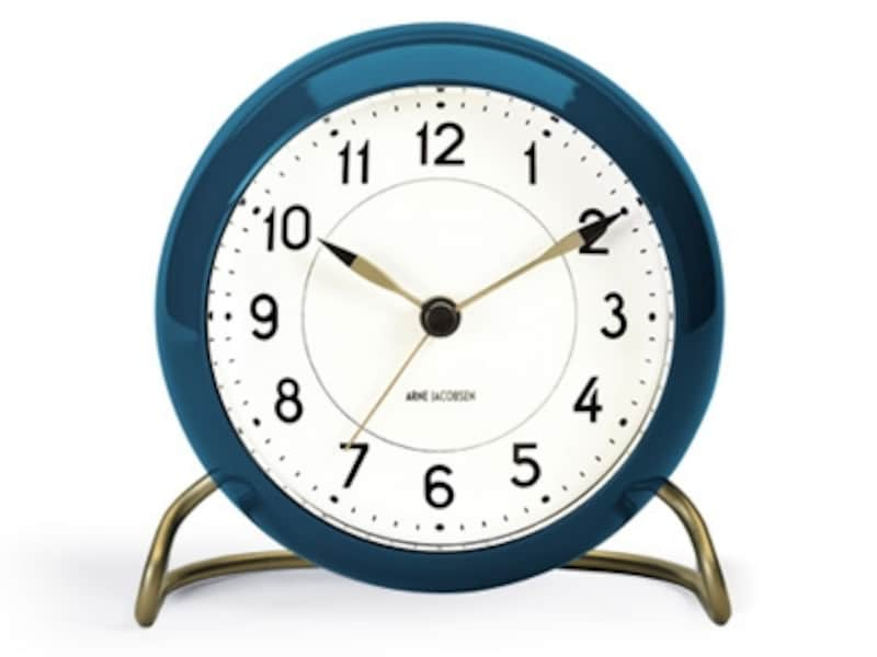 Arne jacobsen Table Clock Station Blueの画像