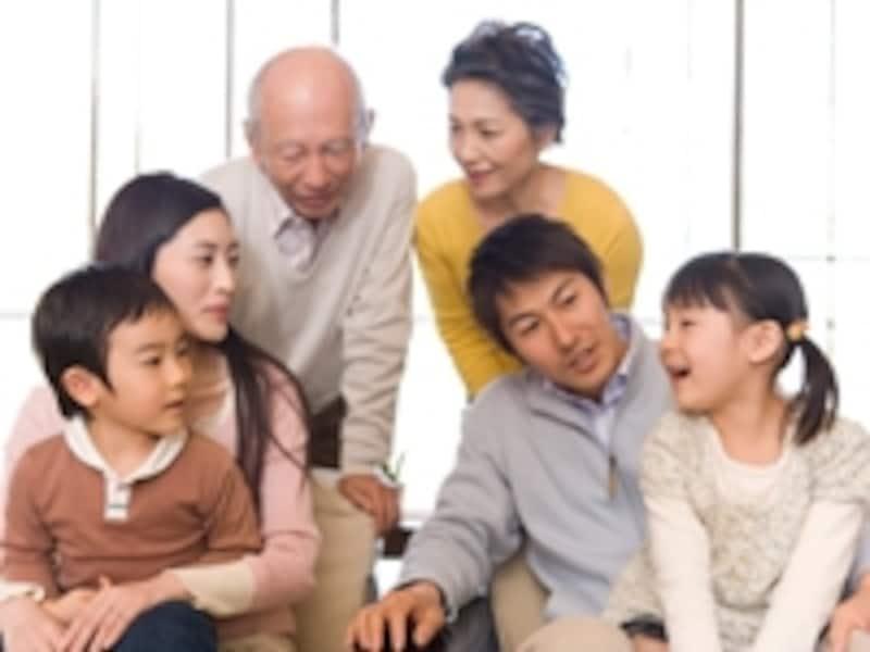 三世代の家族