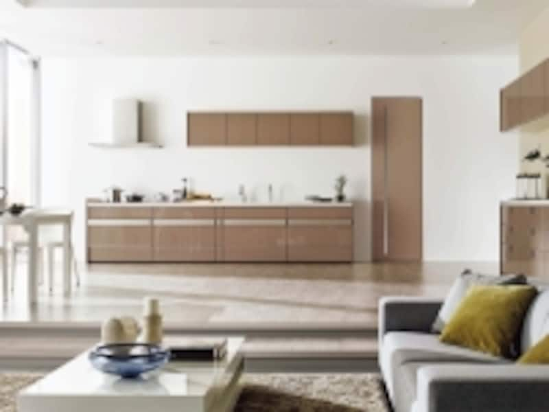 内装材や室内建具などをコーディネートが可能なキッチンは、空間全体でプランニングしやすい。[リシェルSI]undefinedLIXILundefinedhttp://www.lixil.co.jp/