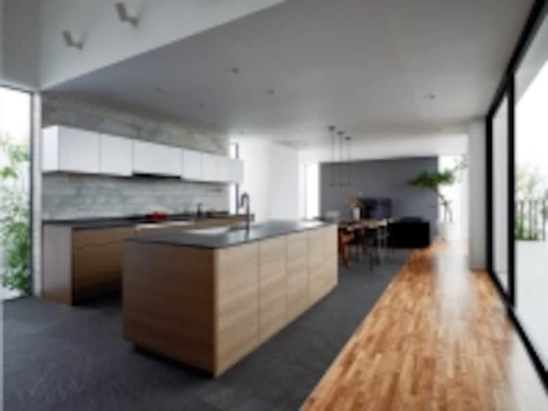LDK空間の中心にもなるようなデザインのキッチン。undefined[Lクラスキッチン]undefinedパナソニックエコソリューションズhttp://sumai.panasonic.jp/