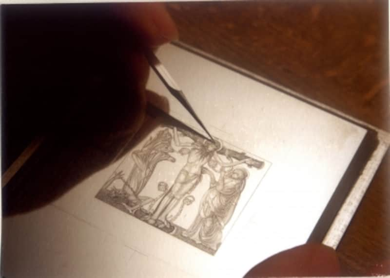 凹版切手制作過程