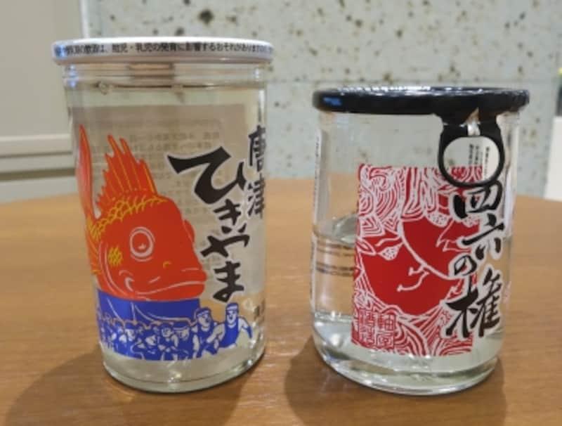 九州のお酒。右は焼酎。