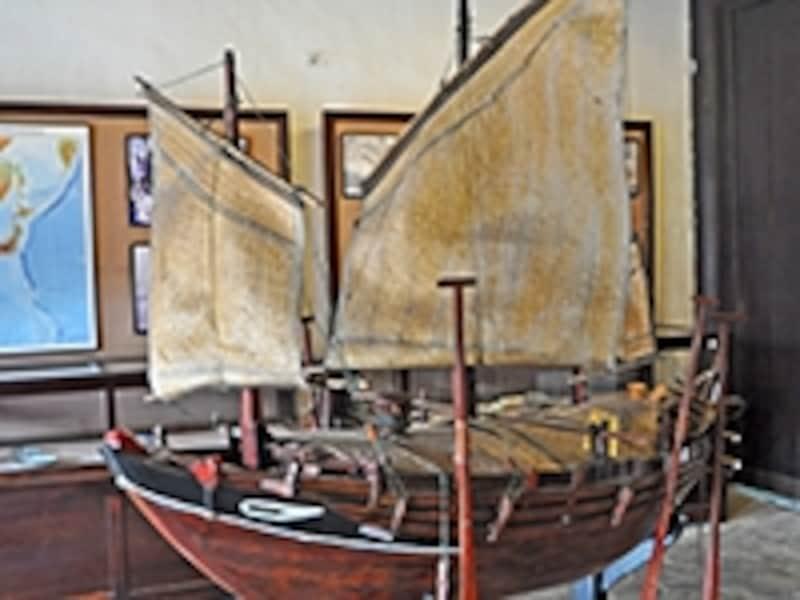 ホイアンの沖で沈んだと伝えられる帆船