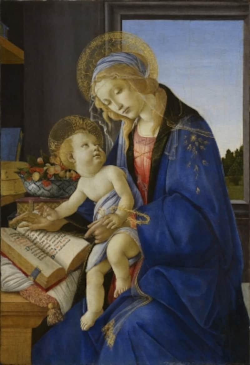 聖母子(書物の聖母)サンドロ・ボッティチェリミラノ、ポルディ・ペッツォーリ美術館