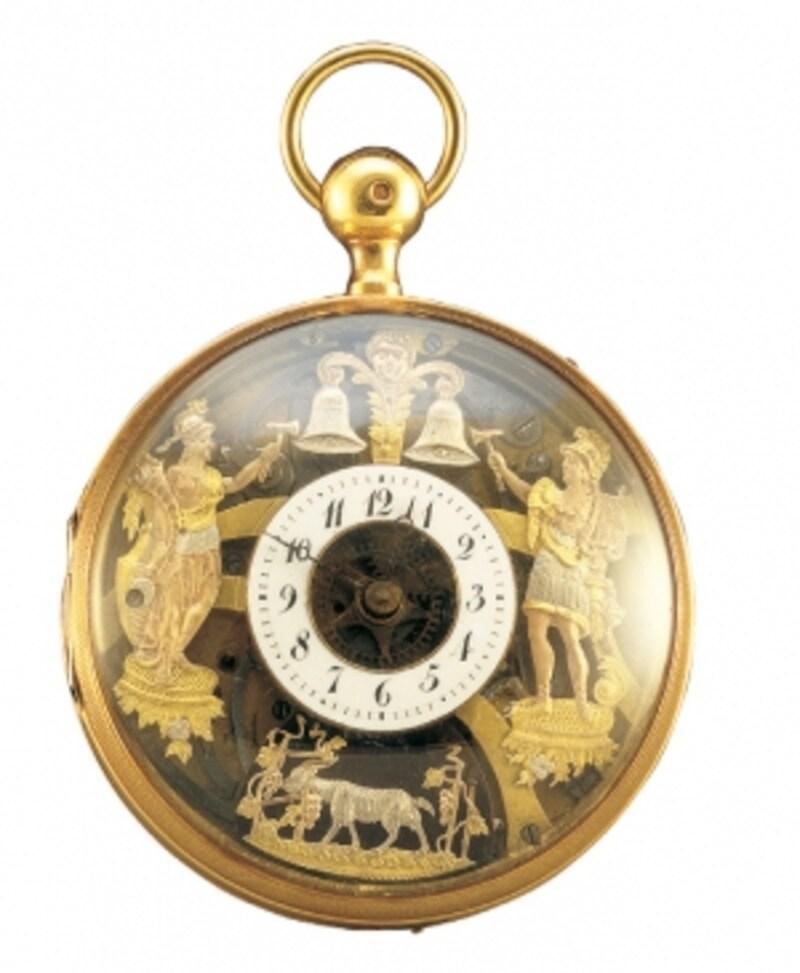 からくり付クォーターリピーター付懐中時計undefined19世紀・スイス町田市立博物館蔵