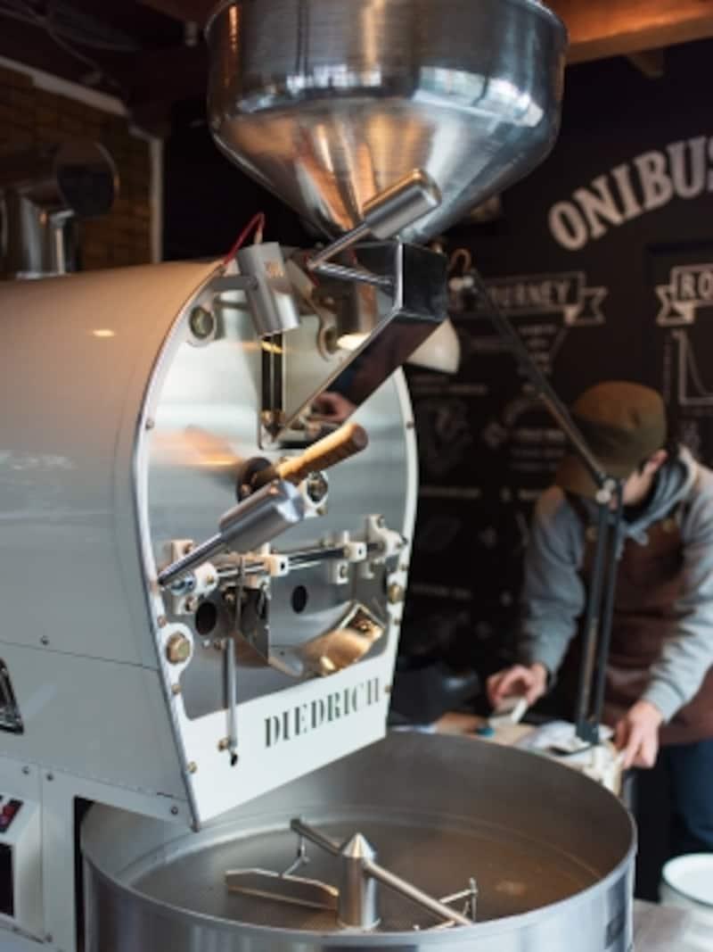 ディードリヒの焙煎機は奥沢店でも使用。坂尾さんが求めるクリーンな味を実現する。