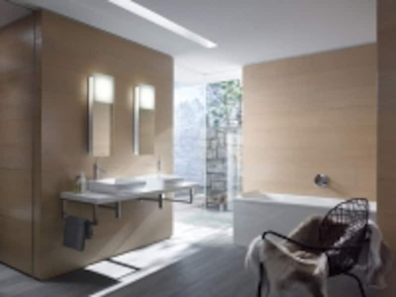 デュラビット社とフィリップ・スタルクのコラボレーションによるシリーズ。洗面器や手洗器、バスタブなど多岐にわたり、多くの住宅やホテルに用いられている。[ドイツ・DURAVIT(デュラビット)社の「STARCK(スタルク)」シリーズ]undefinedセラトレーディングundefinedhttp://www.cera.co.jp/