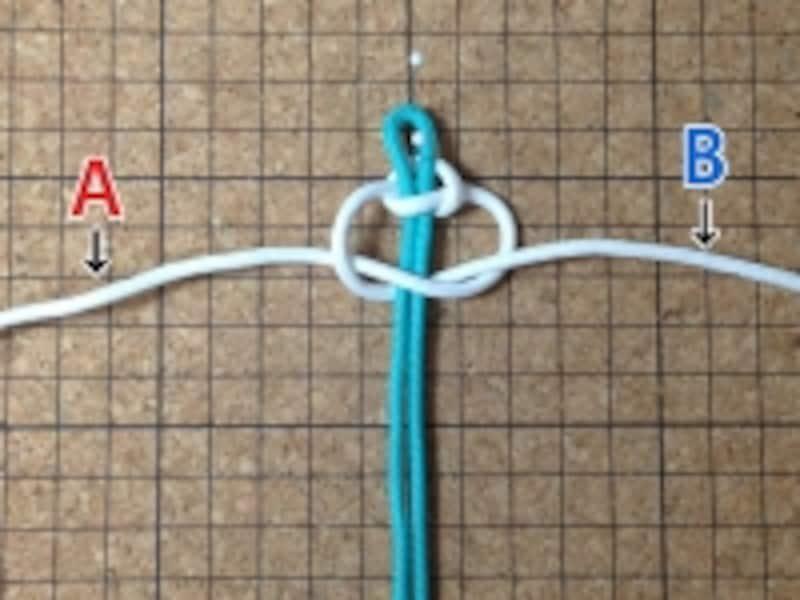 マクラメ:平結びの編み方
