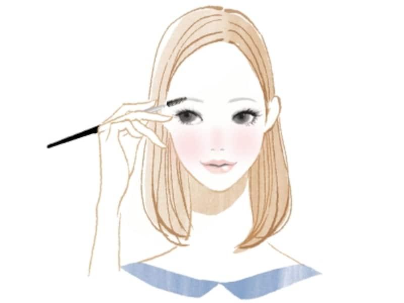 メイク感の出る太眉の描き方