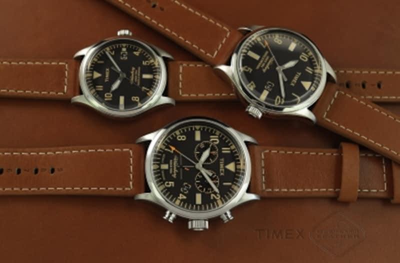 TIMEX/ウォーターベリーレッド・ウィング・シュー・レザー左上\20,000(税抜き)、右上\20,000(税抜き)、下\30,000(税抜き)ケース径38/40/42mm、5気圧防水、クォーツ