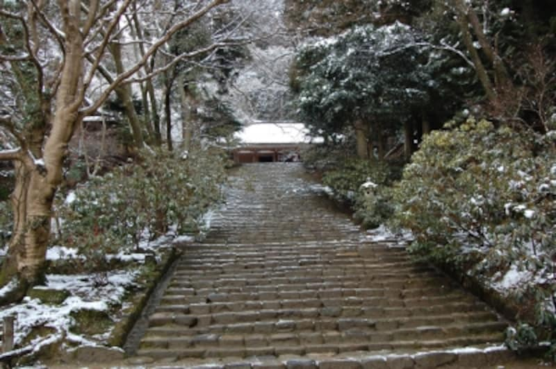 鎧坂。奥の院までの室生寺全体の石段は、およそ700段という