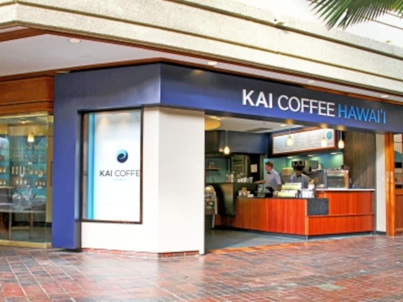 ワイキキの真ん中、ハイアットリージェンシーの噴水広場にあって好アクセスのカイ・コーヒー