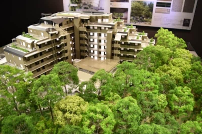 「ザ・パークハウス国分寺緑邸」の完成予想模型
