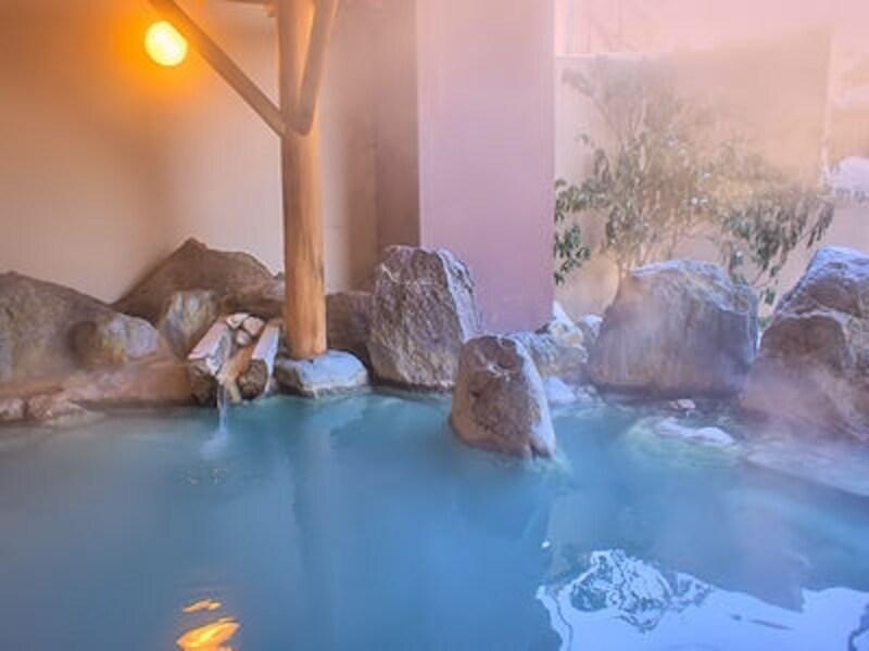草津温泉ホテル櫻井の雪見露天風呂